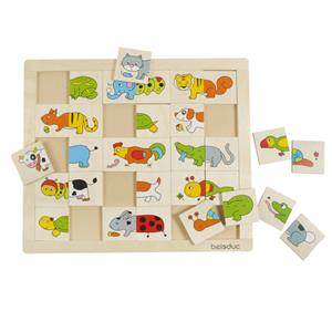 Educational Puzzle Bbeleduc Match Mix Animals From 2 Years Old