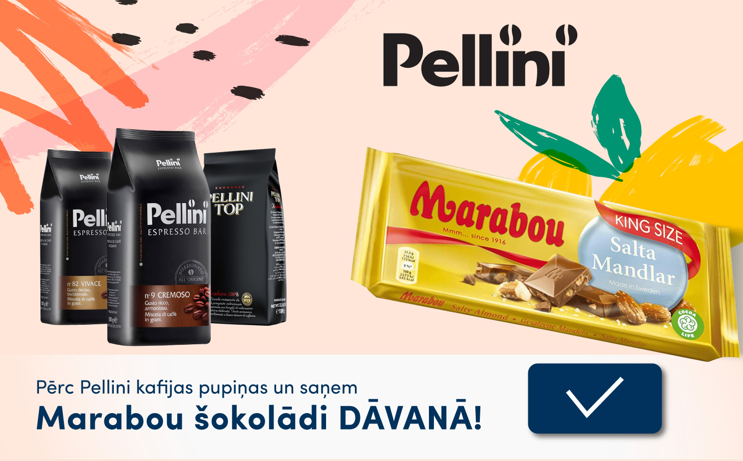 Pērc Pellini un saņem Marabou šokolādi 05 2019